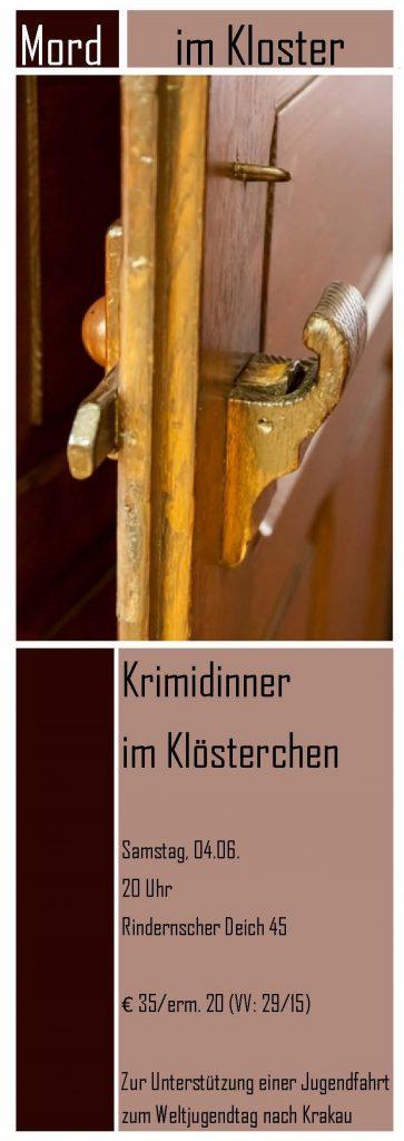 Plakat Krimidinner